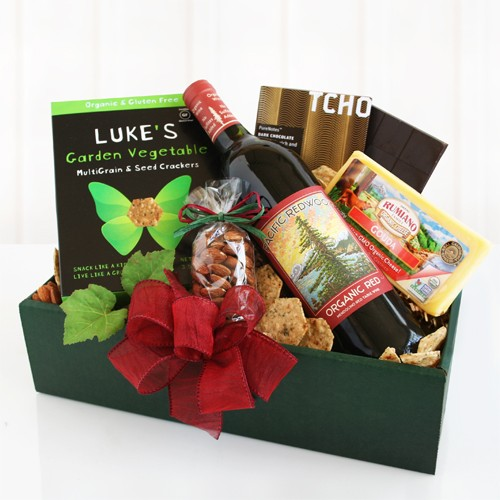 Organic Wine and Cheese Gift Box
