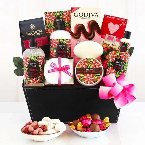 Tiare Rose Spa Romantic Gift Basket