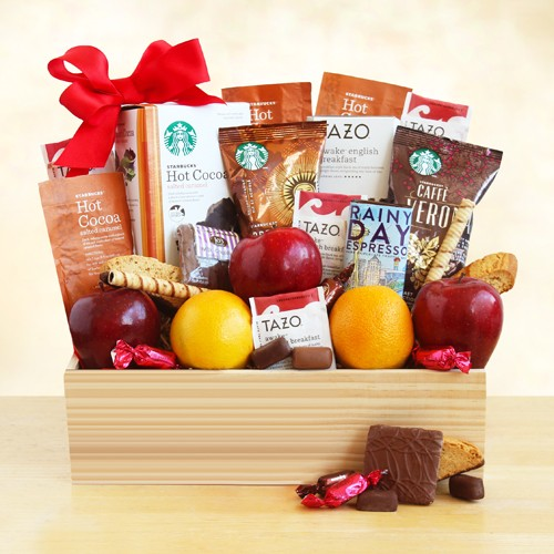 Starbucks Select and Fruit in a Crate
