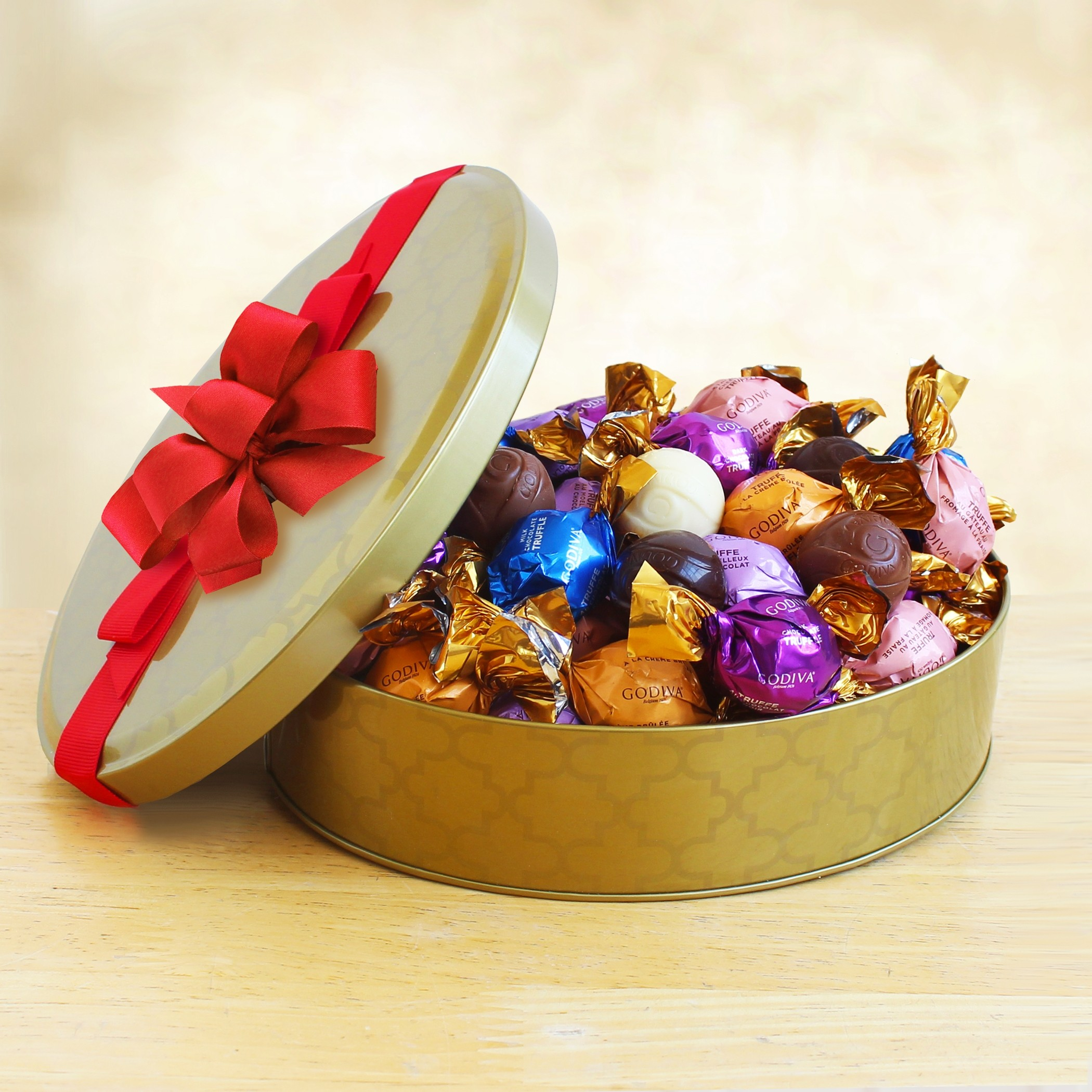 Godiva Assorted Truffles Tin Gift