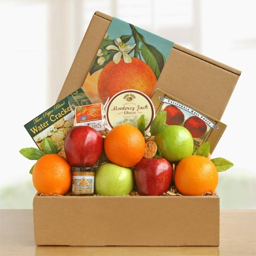 Golden State Deluxe Fruit and Cheese Box