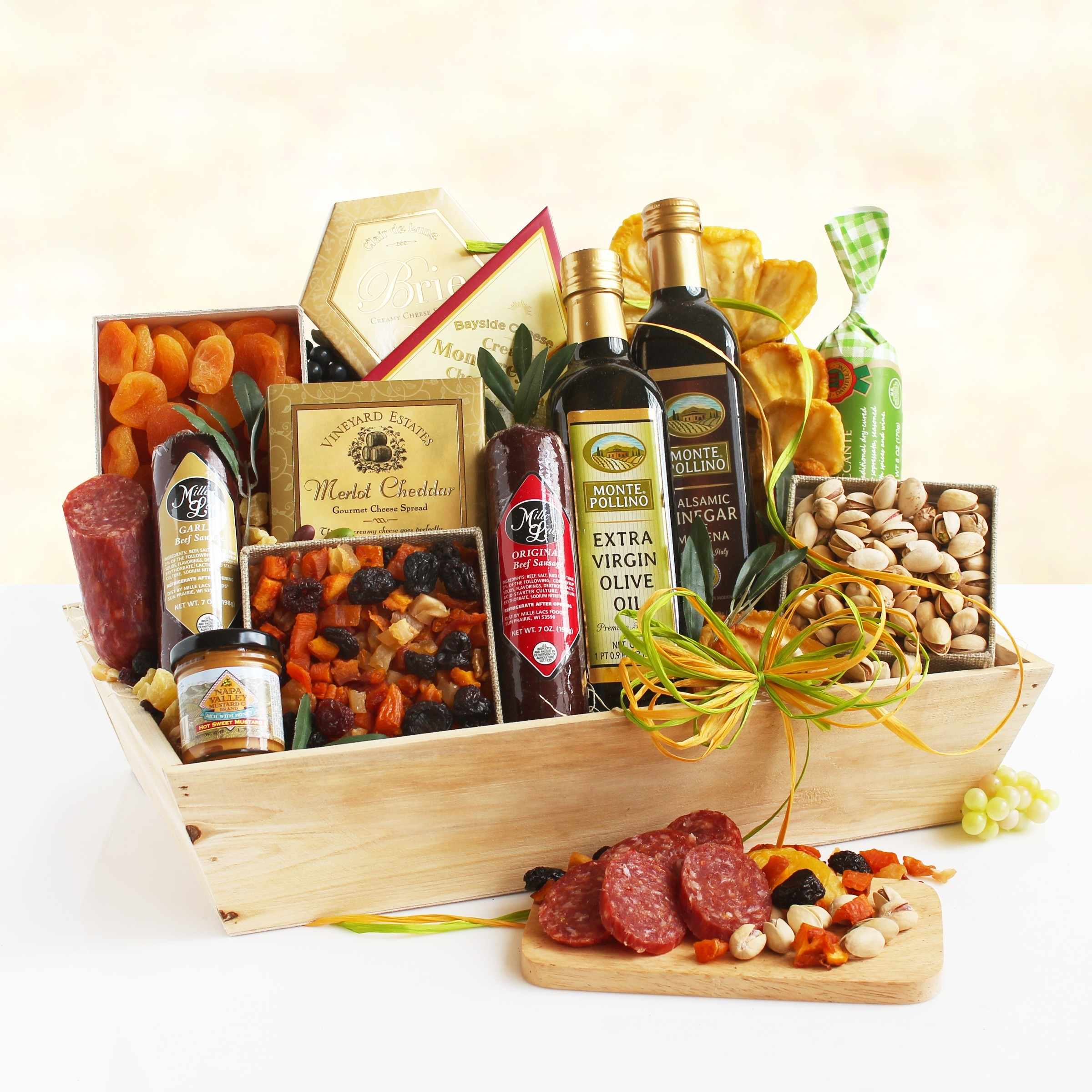 Meat & Cheese Wooden Gift Crate ~ Ultimate