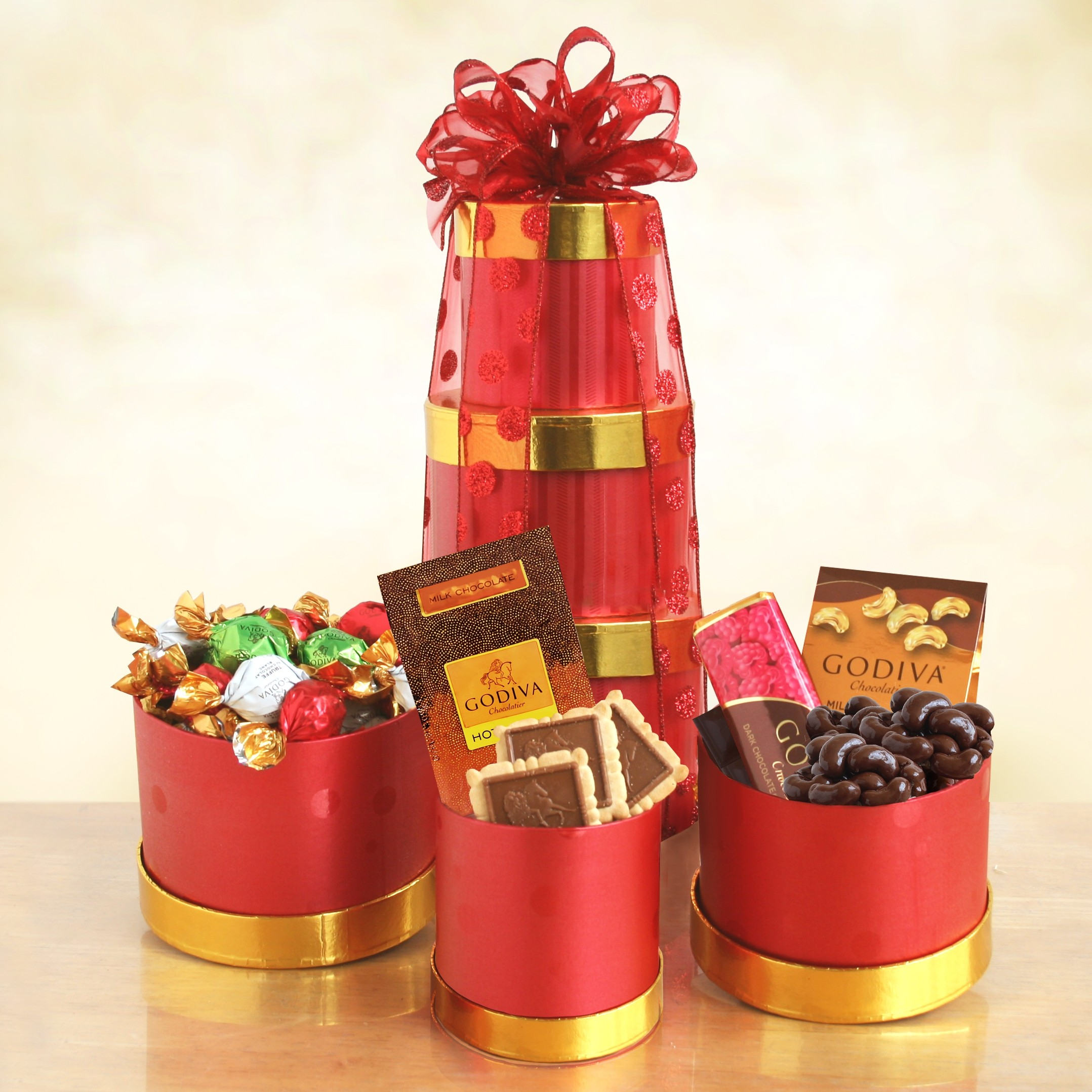 Godiva Winter Wishes Gift Tower