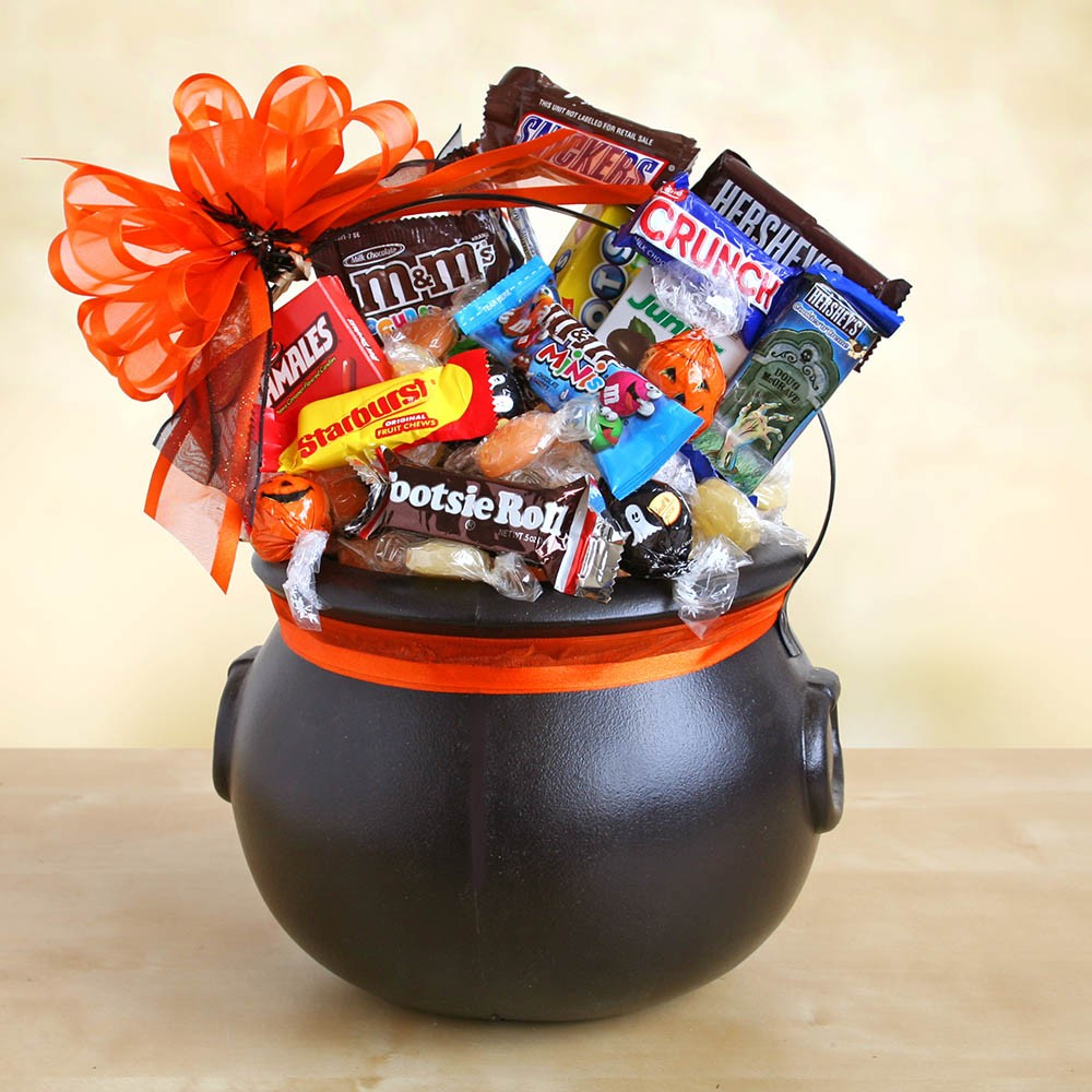 Halloween Cauldron of Chocolate Treats