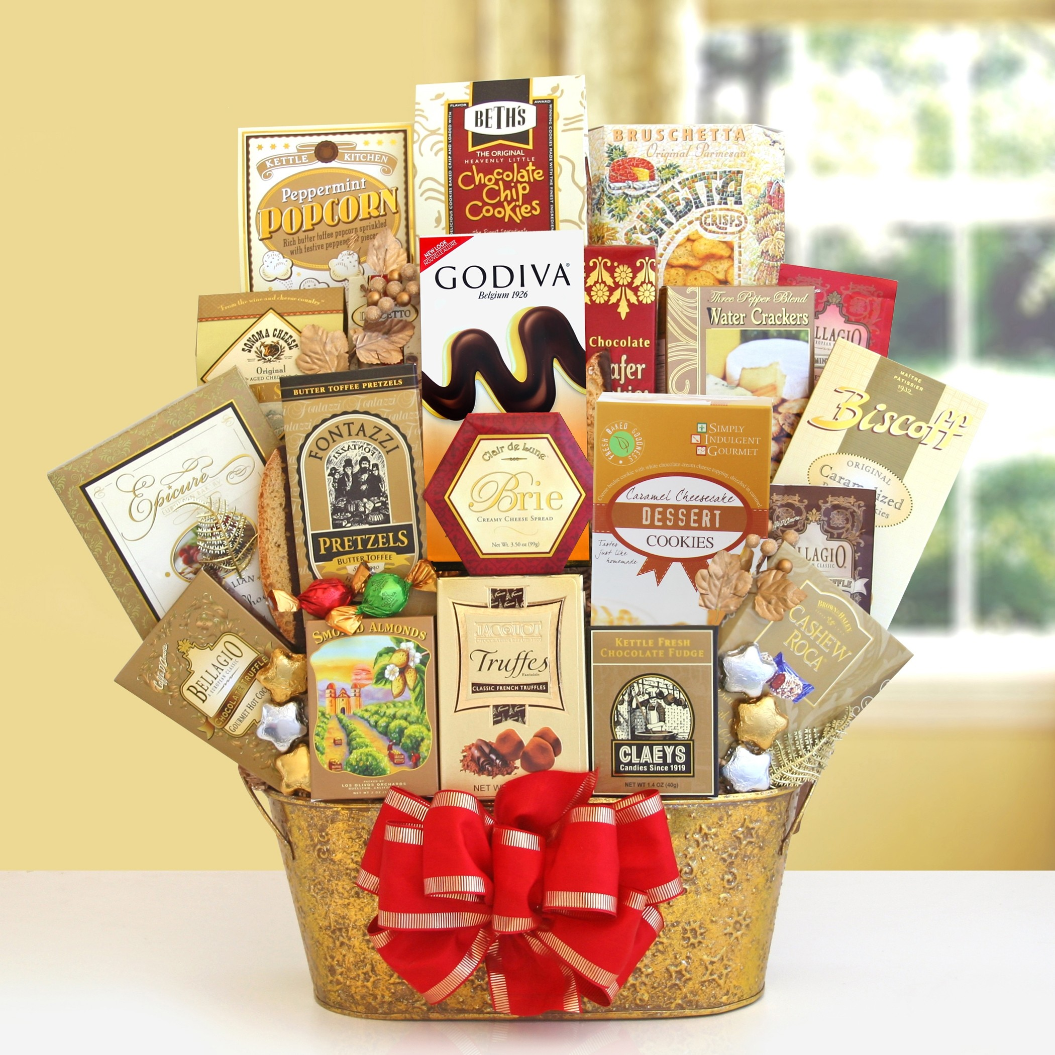Shimmering Seasons Gourmet and Chocolate Gift Basket