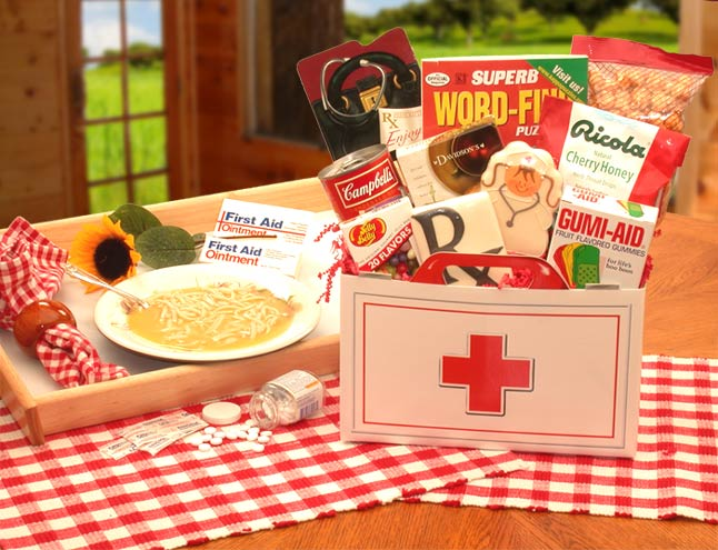 First Aid For The Ailing Get Well Gift Box ~ Large