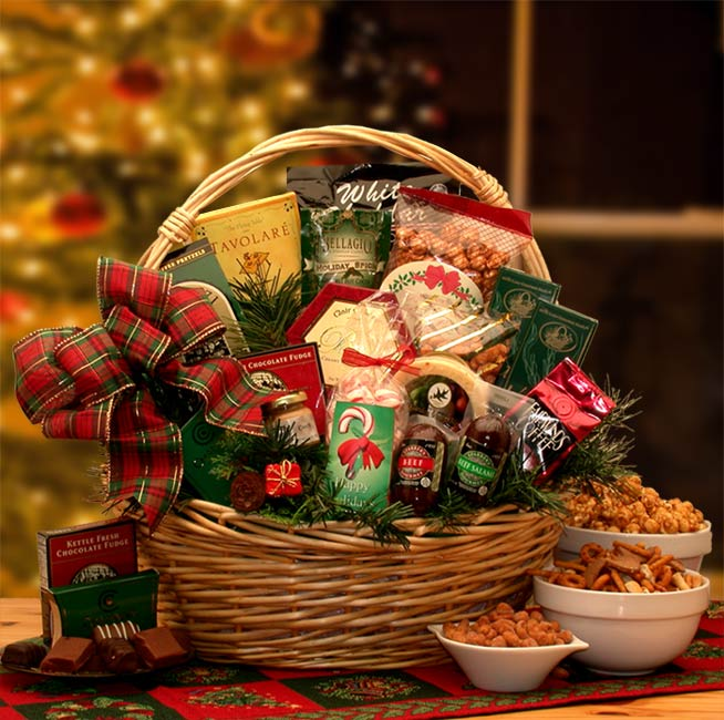 Holiday Celebrations Holiday Gift Basket ~ Large