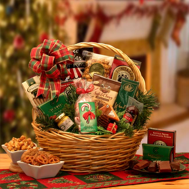 Holiday Celebrations Holiday Gift Basket ~ Small