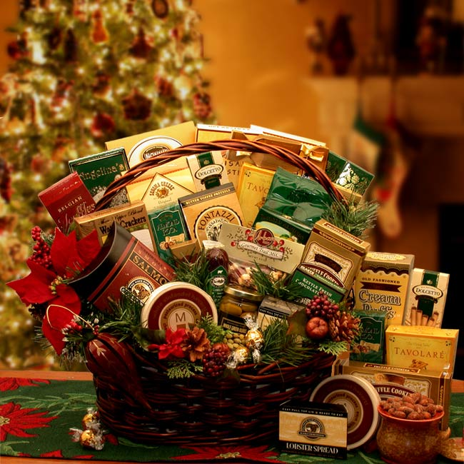 Grand Gatherings Holiday Gourmet Gift Basket ~ Large