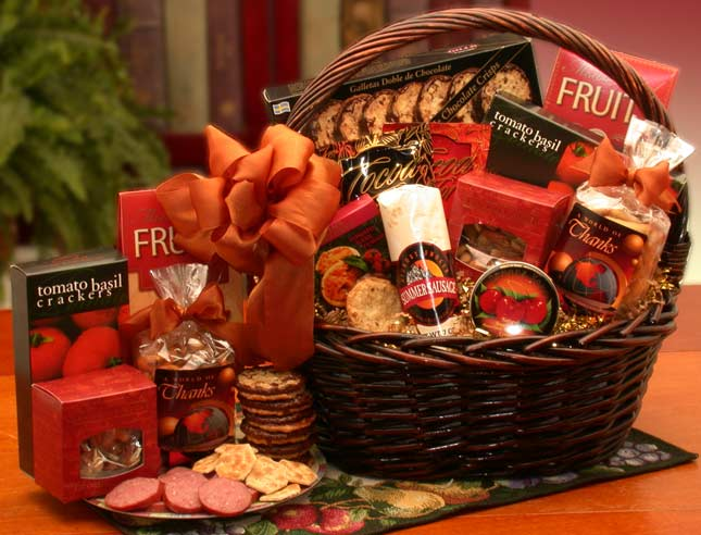 A Grand World Of Thanks Gourmet Gift Basket ~ Large