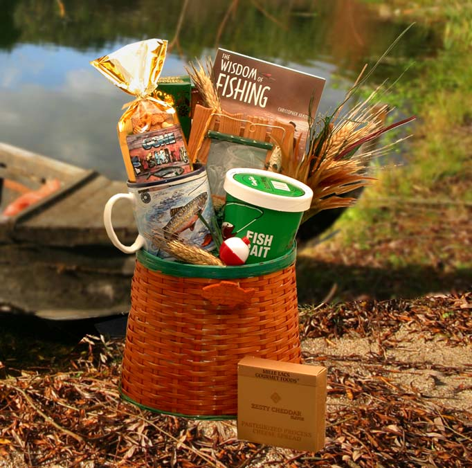 The Fisherman's Fishing Creel Gift Basket - Medium