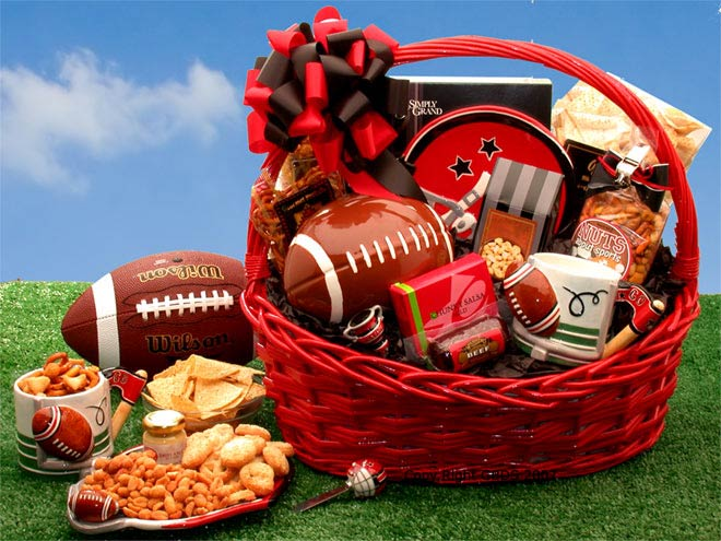 Football Fanatic Sports Gift Basket - Large