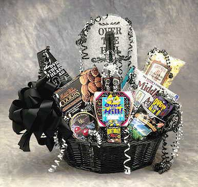 Over the Hill Birthday Gift Basket ~ Med