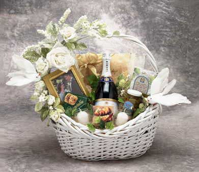 Wedding Wishes Gift Basket - Large