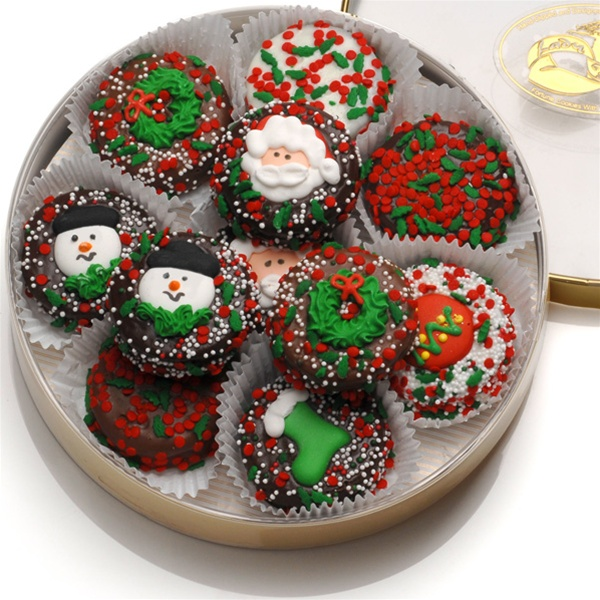 Chocolate Dipped Holiday Oreo Cookies 16 pc